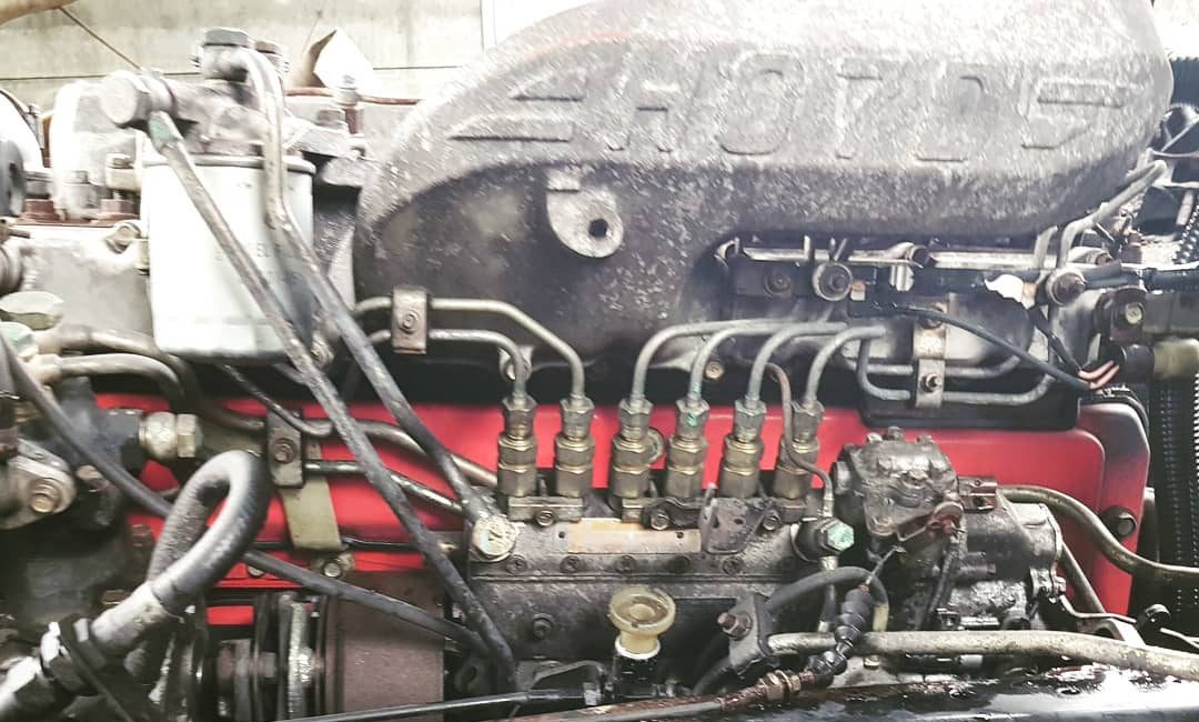 Hino H07D Engine with Transmission (Speed Gear) chassis cut